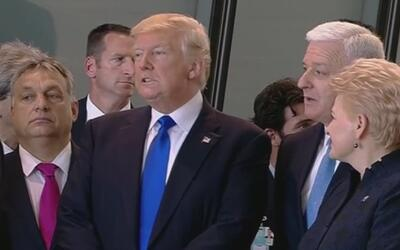 El empujón de Donald Trump al primer ministro de Montenegro en Bruselas