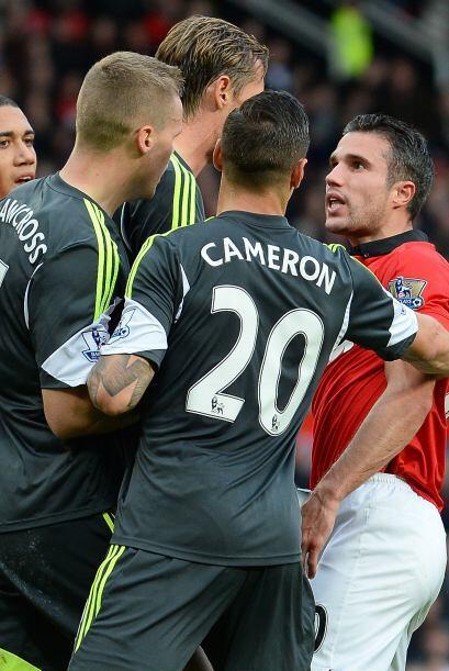 El Manchester United tardó en encontrase y perdía la calma.