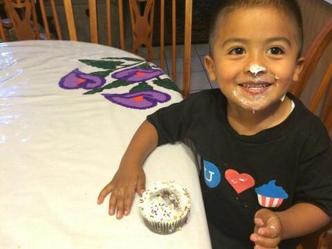 A sus3 años, Mateo se ha convertido en toda una celebridad.
