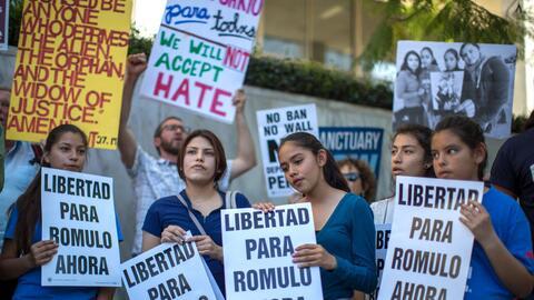 Las hijas de Rómulo Avelica-Gonzalez exigen la libertad de su pad...