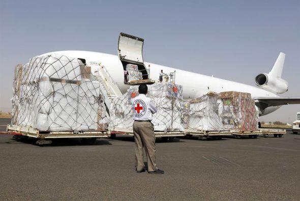 Un trabajador del Comité Internacional de la Cruz Roja (CICR) analiza un...
