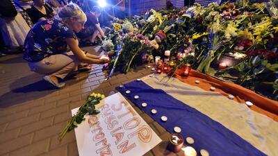 Ofrendas por las víctimas del vuelo MH17 de Malaysia Airlines