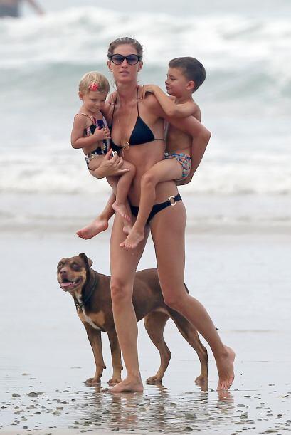 Giselle Bundchen tuvo a Benjamin, su primer hijo en el 2009 y posteriorm...