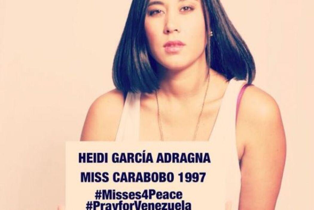 Heidi García Adragna, Miss Carabobo 1997, hizo un llamado a la no violen...