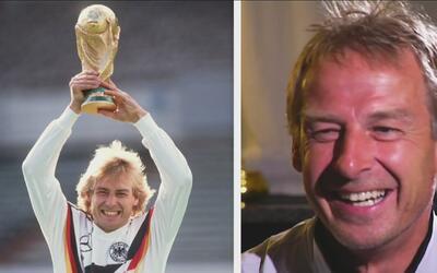 Le dimos una alegría a Klinsmann: con su foto ganando el Mundial de 1990