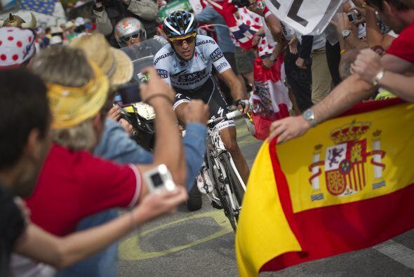 La etapa 18 del tour de Francia fue complicada para el español Alberto C...