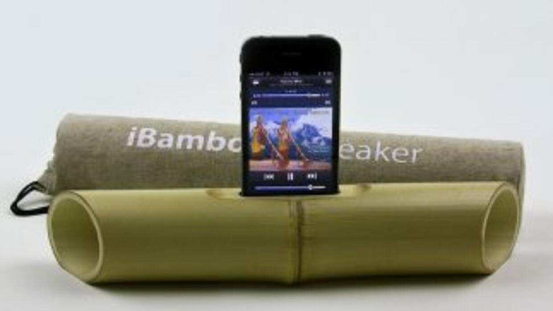 Altavoces ecológicos para tu iPhone o iPod.