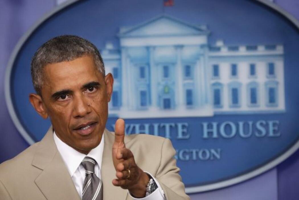 """""""Me verán sólo con trajes grises y azules"""", dijo Obama a la revista """"Van..."""