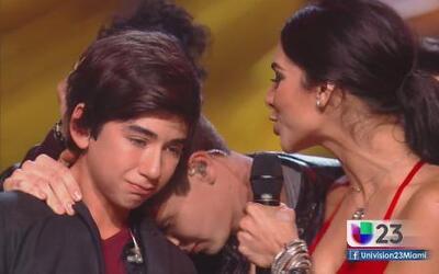 Alan Matheus llora al despedirse de La Banda
