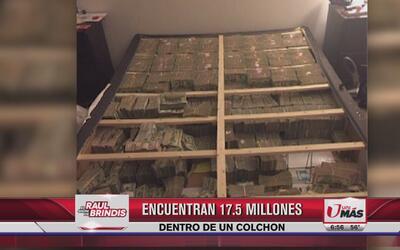Encuentran 17.5 millones dentro de un colchón