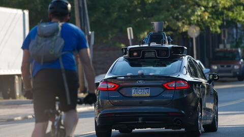 Un vehículo autónomo de Uber en Pittsburgh, en septiembre...
