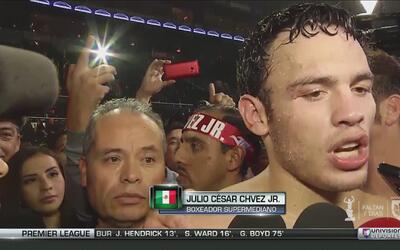 Chávez Jr.: ''La pelea me sirvió para entrar en ritmo y estar para quien...