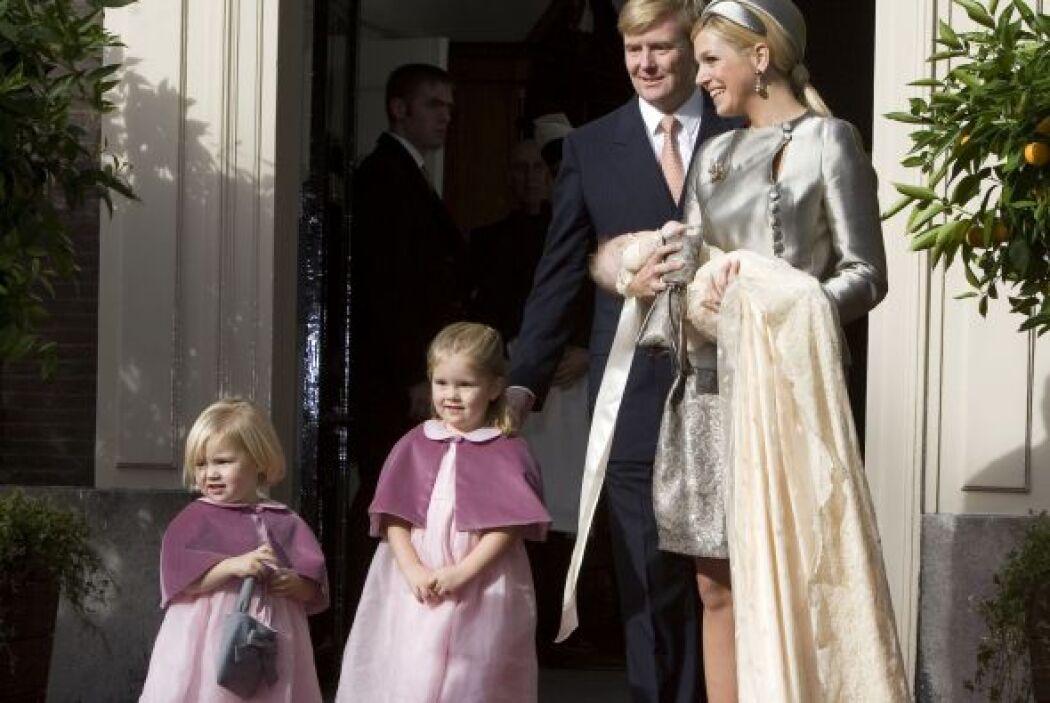 La última hija de los reyes de los Países Bajos fue bautizada el 20 de o...