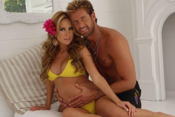 La actriz lució hermosa durante su embarazo. (Fotos cortesía Geraldine B...