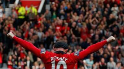 Wayne Rooney celebra su gol ante Crystal Palace.