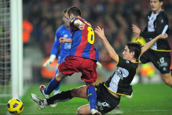 Andrés Iniesta fue de los jugadores más peligrosos, pero s...