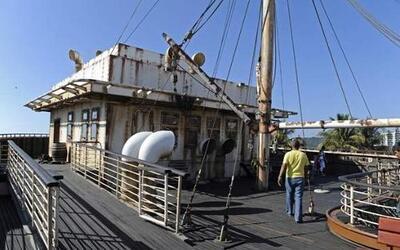 Lo que antes fue un buque de carga hoy alberga un lujoso restaurante.