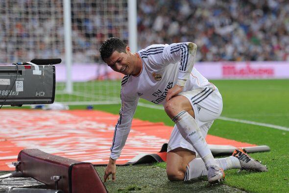 Cristiano se quejaba de un penalti que no cobraron a su favor.