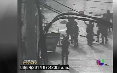 Violento desalojo de un centro comercial en Perú