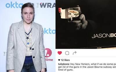 Lena Dunham apoya romper pósters de Jason Bourne