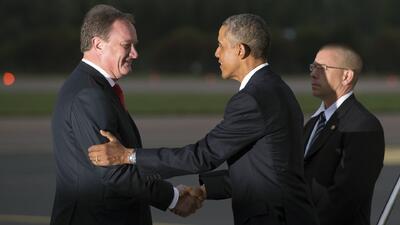 Obama llega a Estonia para participar en la cumbre de la OTAN