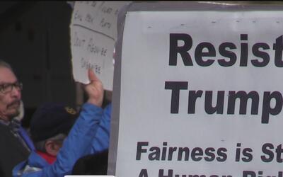 Protestas en San José por la toma de posesión de Donald Trump