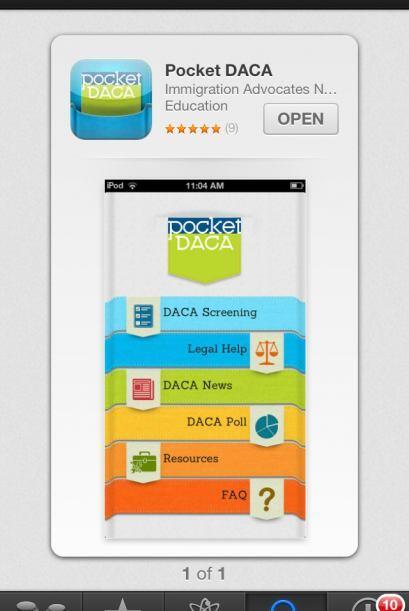 Descargue la aplicación Pocket DACA en su teléfono inteligente