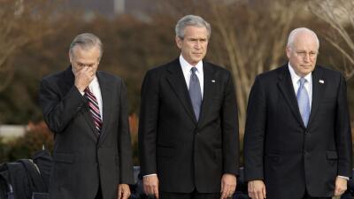 George W Bush, Dick Cheney, Donald Rumsfeld
