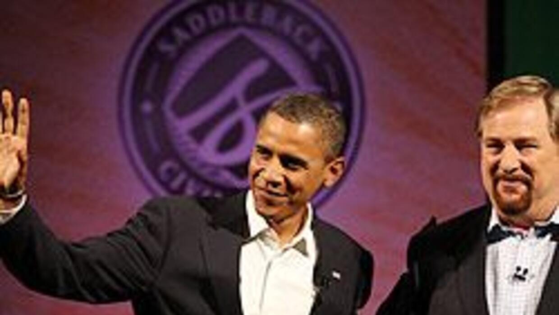 """Obama visitó la """"mega iglesia"""" del pastor Rick Warren, en California, se..."""