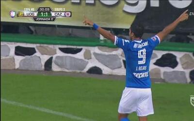Golazo impresionante de Joao Rojas para el empate de Cruz Azul