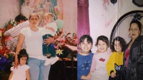Xóchitl Hernández, detenida por ICE, posa con su familia