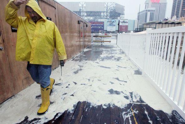 Imágenes de Nueva Jersey y Atlantic City antes del arribo del Huracán Sandy