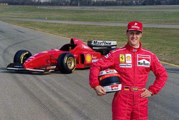 Para la temporada de 1996, Ferrari contrató a Michael Schumacher...