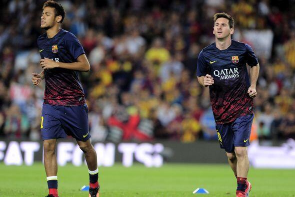 Sería el primer juego en el que Neymar y Lionel Messi estaban jun...