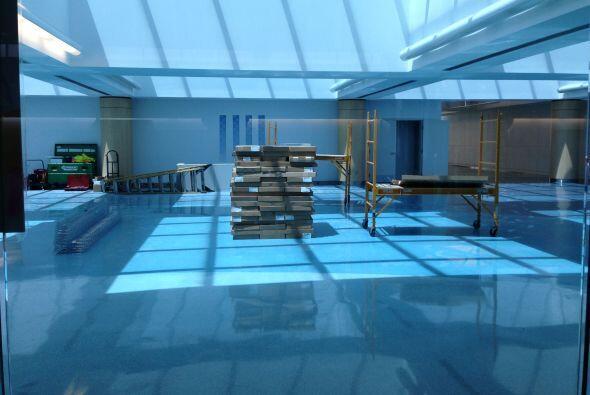 En la foto, uno de los proyectos de construcción en la terminal del aero...