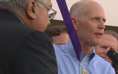 Rick Scott le concede la Medalla de la Libertad a Leopoldo López