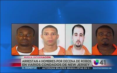 Arrestan a 4 hombres por decenas de robos