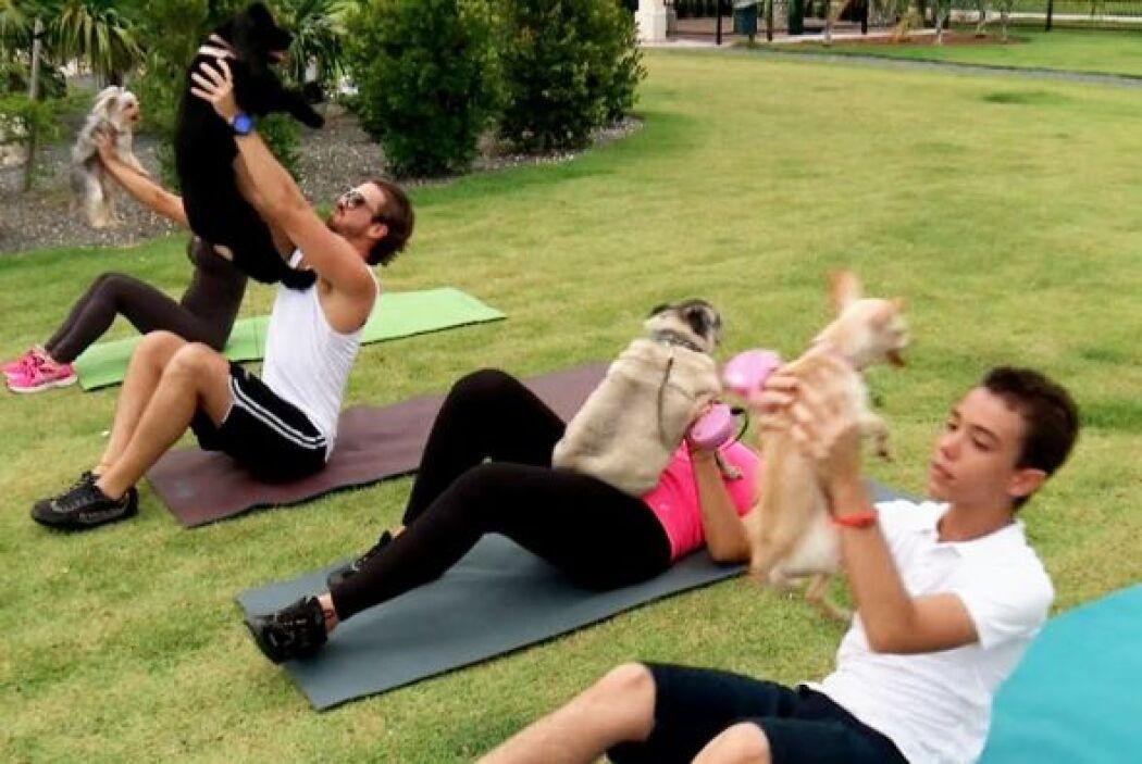 Y ni qué decir de los perros que incluso ella los recomienda para ejerci...