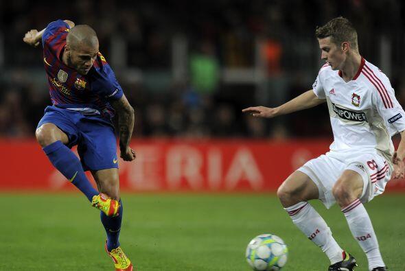 La superioridad del Barcelona es total.