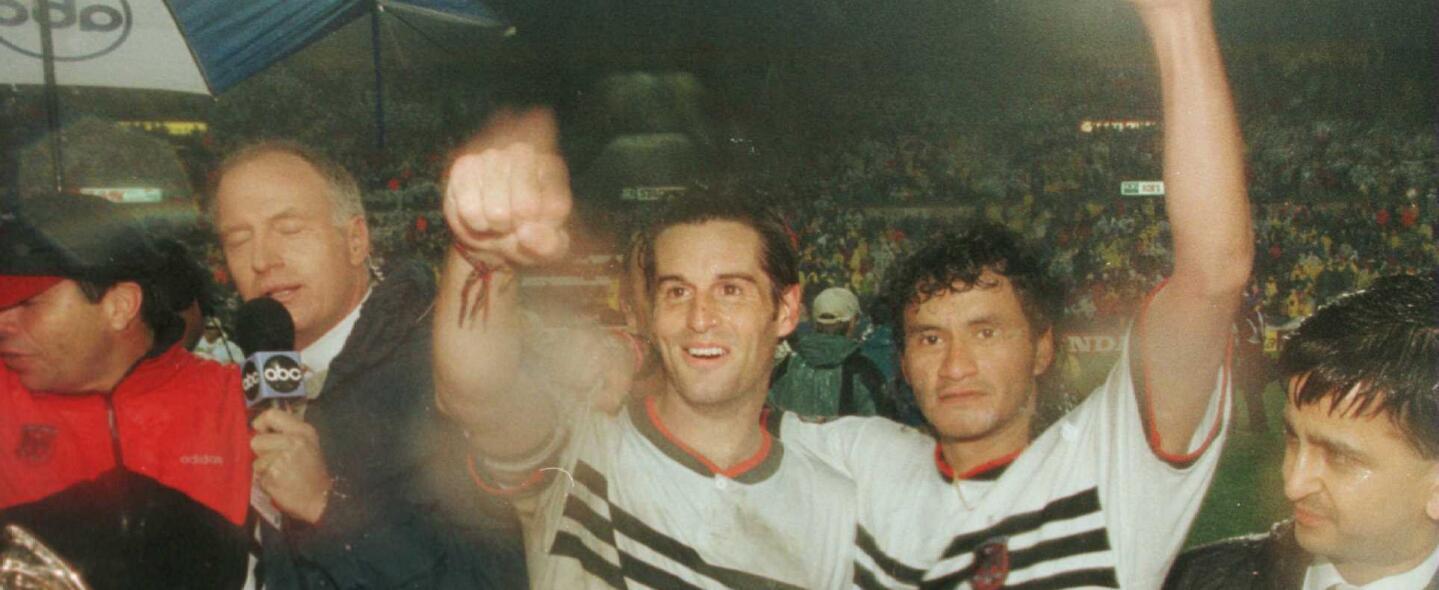 DC United celebra el título de la MLS Cup 1996