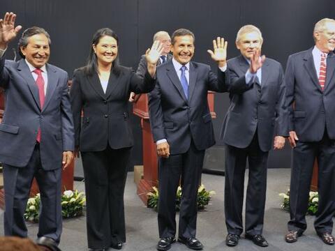 Los candidatos a la silla presidencial de Perú se vieron las cara...