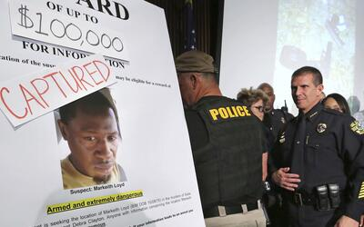 Rueda de prensa sobre la captura de Markeith Loyd, buscado por dos asesi...