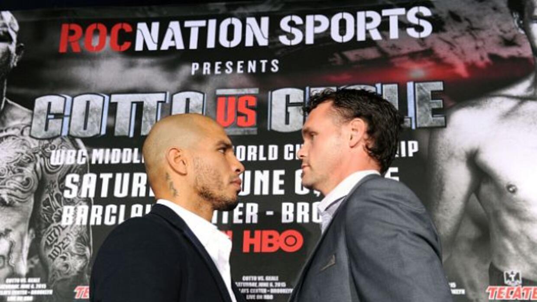 Miguel Cotto y Daniel Geale presentaron pelea en Nueva York.