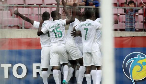 Nigeria en plen festejo.