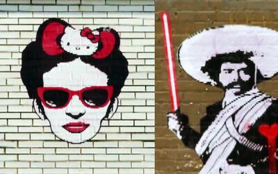Conoce al artista que mezcla a Frida Kahlo con Hello Kitty