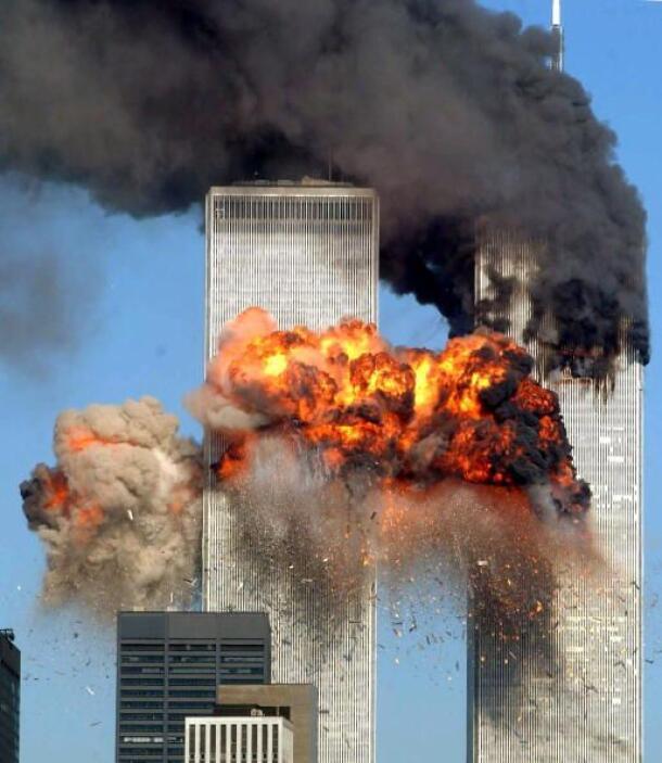 """Nueva York 2001 """" Dos aviones se estrellaron contra las torres gemelas:..."""