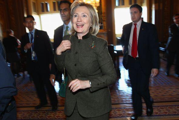 Entre las mujeres, la ex precandidata presidencial y ex senadora Hillary...