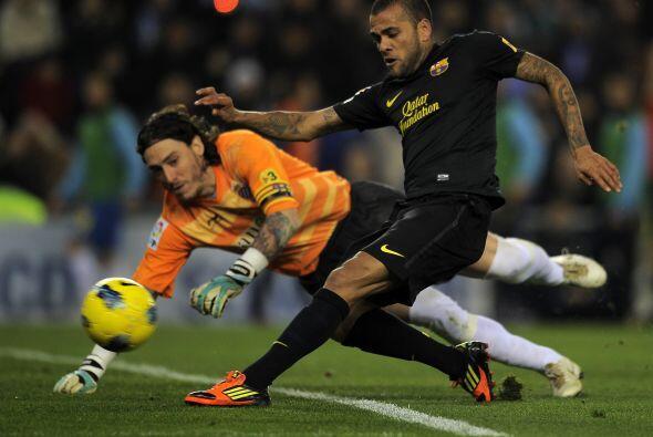 El portero del Espanyol se empleó a fondo para evitar un segundo...