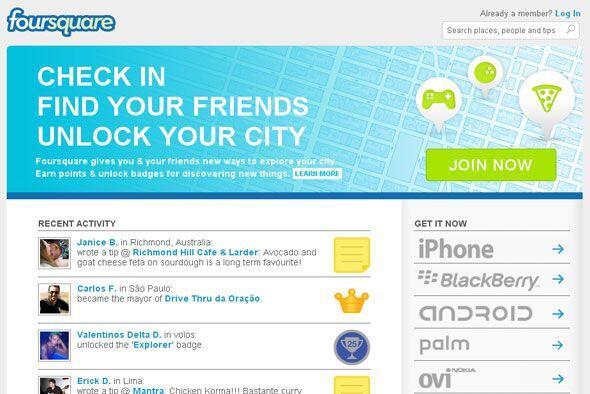 FOURSQUARE - Una vez que rastrea tu ubicación, te alerta sobre rebajas e...