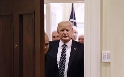 El presidente Donald Trump este martes en la Casa Blanca